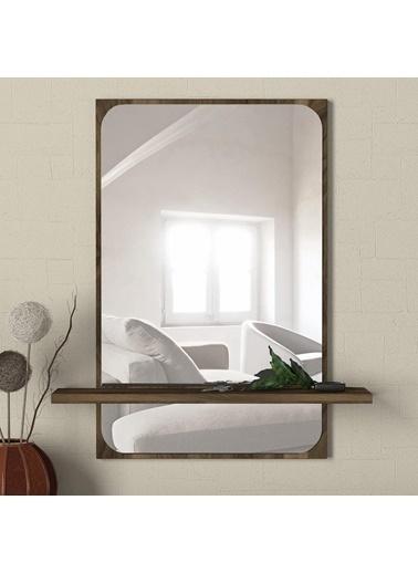 Dekorister Dekorister Exclusive Dorian 44X70 Ceviz Çerçeveli Ayna Kahve